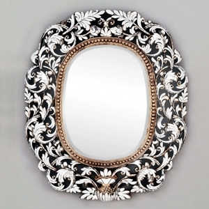 Solid Wood Cut Glass Mirror